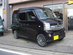 エブリィ ワゴン 4WD (型式DA64W) FAFリフトアップスプリング取り付け 埼玉県上尾市 K様