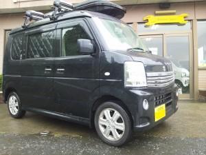 エブリィ ワゴン (型式DA64W) FAFリフトアップスプリング取り付け 愛知県名古屋市 H様