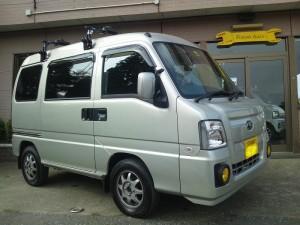 スバル サンバー SC 4WD (型式TV2) FAFリフトアップスプリング取り付け 静岡県沼津市 S様