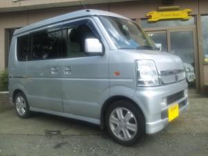 スズキ エブリィ ワゴン 4WD (型式DA64W) FAFリフトアップスプリング取り付け 千葉県船橋市 K様