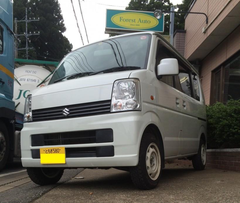 FAFリフトアップスプリングR取り付け スズキ エブリイ ワゴン 4WD ターボ(型式DA64W) 栃木県 足利市 A 様
